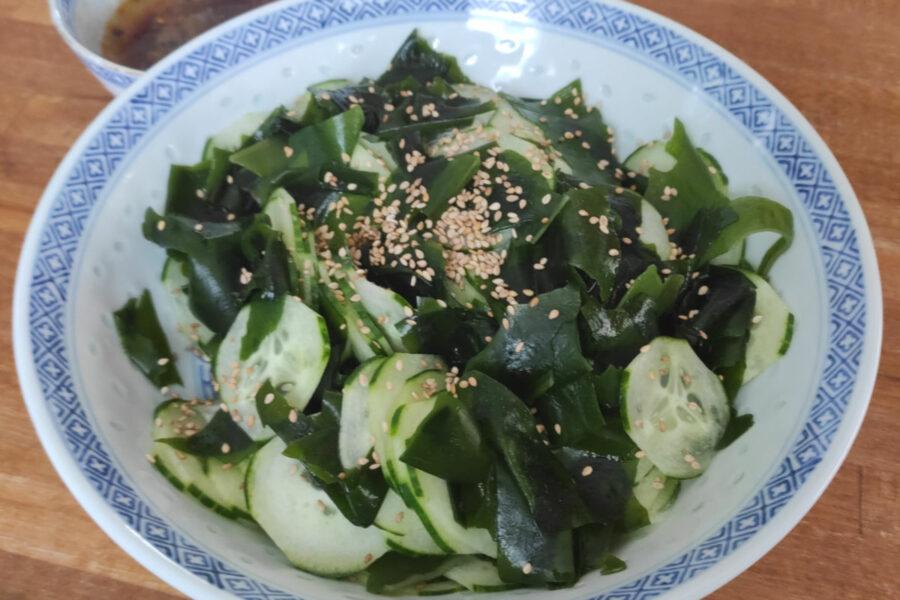 Salade de concombre au wakame