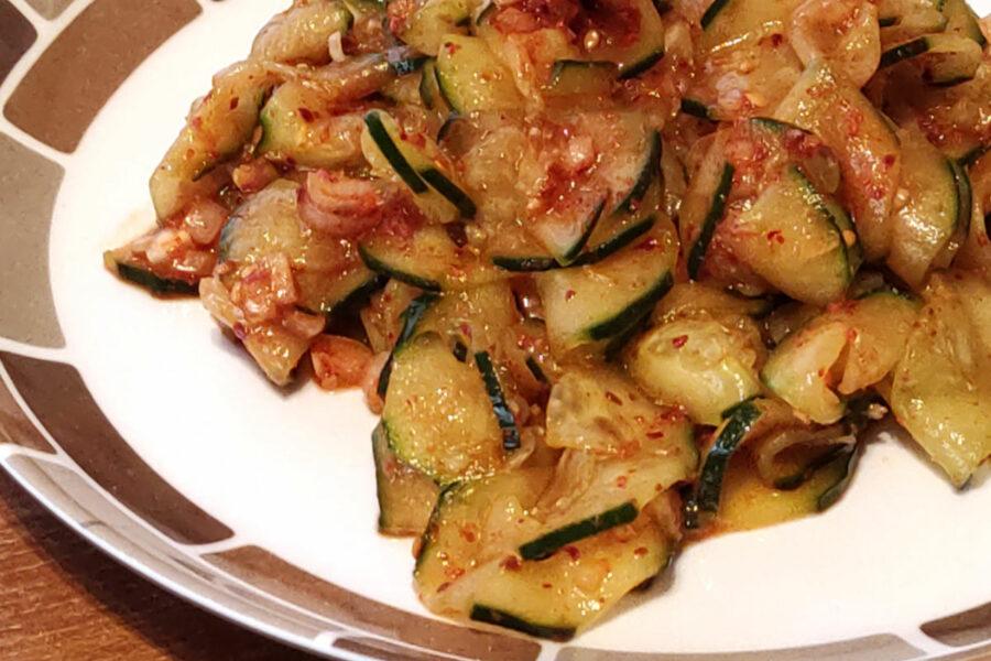 Salade de concombre épicée (Oi muchim)