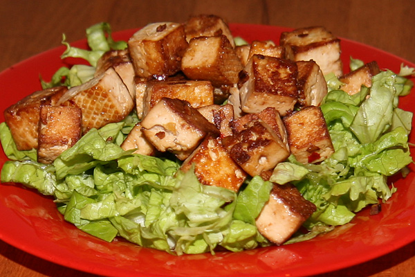 Fromage de soja (ou tofu) frit | Lucullent!