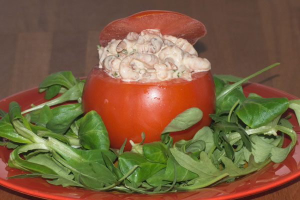 Tomates aux crevettes | Lucullent!